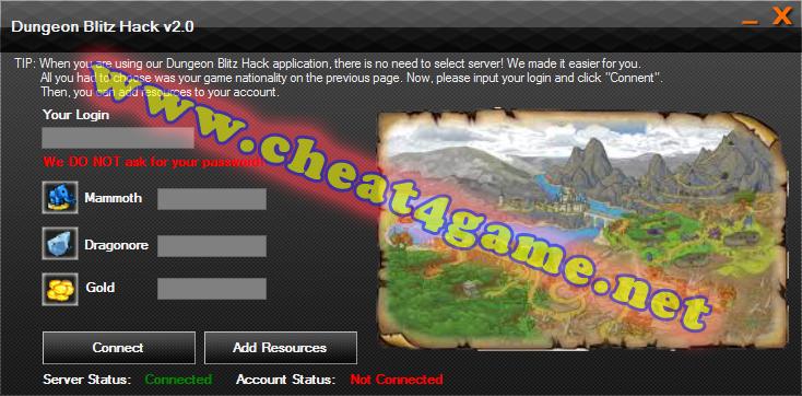 Dungeon Blitz hack