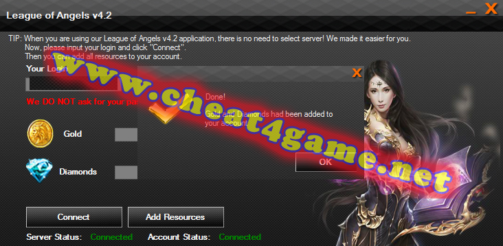 League of Angels 2 Hack – Add Gold and Diamonds | Cheat4Game