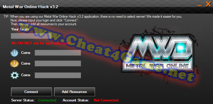 Hack Metal War Online