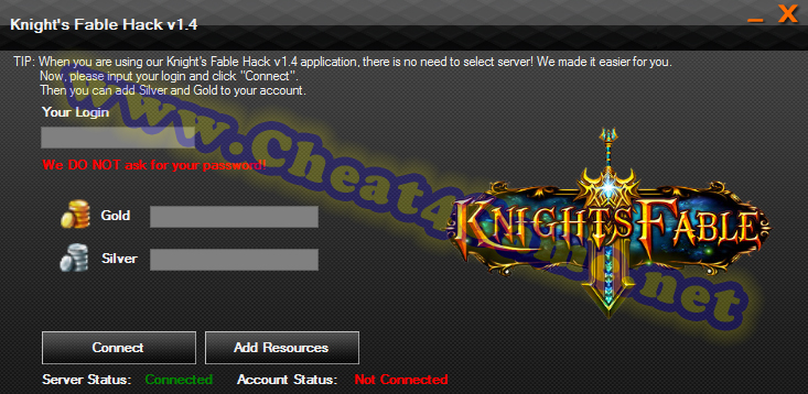 Knight's Fable hack tool